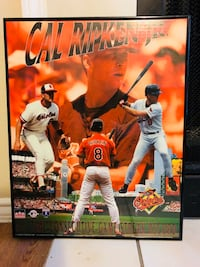 Call Ripken Junior all time collective games strike record picture with black frame Austin, 78729