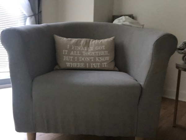Grey wayfair Arm chair