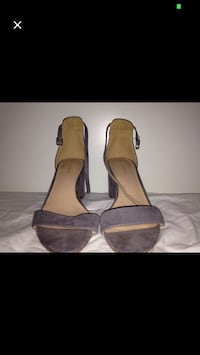 pair of brown suede ankle strap heeled sandals West Ryde, 2114