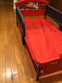 Red and black bed frame