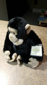Used White And Black Monkey Plush Toy For Sale In Winnipeg