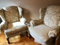 Two upholstered accent/ wing chairs Vaughan, L4L 1A5
