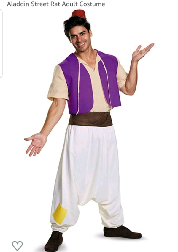 Disney Aladdin mens medium costume  5f547486-417e-45ee-b748-b99f4f107993