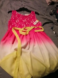 Girls pink and yellow sleeveless dress Lutz, 33559