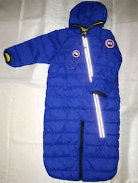 blue and red zip-up bubble jacket Toronto, M6L 1B5