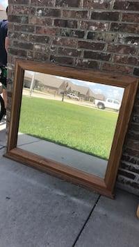 Must go today! Make offer! Large solid wood framed mirror Thibodaux, 70301