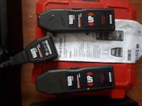 black and red power tool battery charger