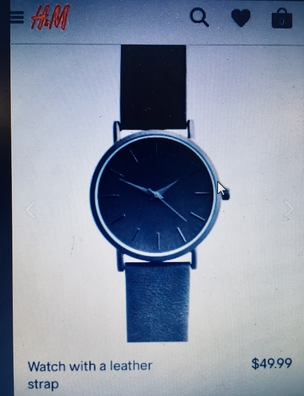 H&M genuine leather strap watch brand new made in Japan