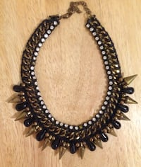 High Quality, Reversible Crystal and Spikes Necklace