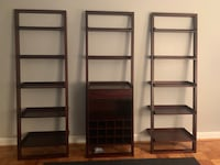 Crate and Barrel Sloane Java Wine Bar/2 Bookcases Arlington, 22204