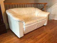 White leather sofa loveseat Alexandria, 22314