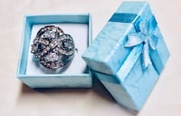 New Faithful Ring with Four Crystals , size 6 or 7 or 8 can be delivered to your house  Redwood City, 94065