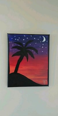 10 × 8 canvas, midnight painting   Brampton