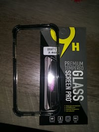 IPhone 11 case with glass protective screen