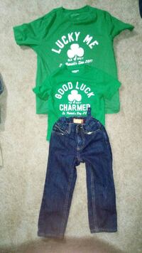 2 kids green old navy shirts and 1 old navy jeans Corpus Christi, 78414