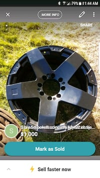 black and gray 5-spoke auto wheel