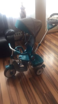 baby's black and blue stroller Toronto, M3N 2Z8