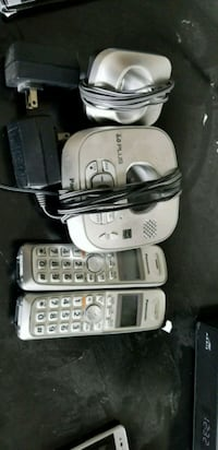two white and gray wireless telephones Louisville, 40214