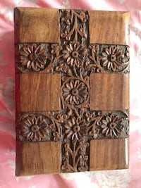 Carved Wooden Collectables Box  Markham