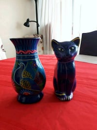 Nice set of a Vase and a Cat Toronto, M2J 2C2