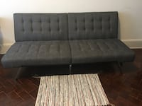 black leather tufted sectional sofa New York, 10023