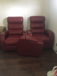 Red electric reclining chairs  NASHVILLE