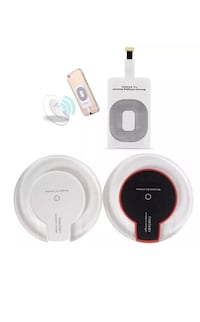 New white iPhone charging kit complete set with receiver