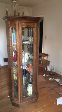 brown wooden framed glass display cabinet District Heights, 20747
