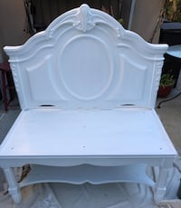 Beautiful One of a Kind White Wood Bench, Indoor / Outdoor  San Diego, 92106