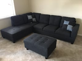 Brand New Sofa Sectional & Ottoman come in Box - Available Delivery