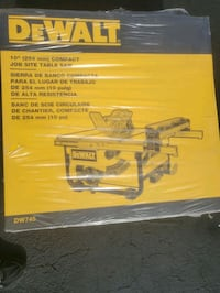New  10in DeWalt Table Saw & Rolling Stand