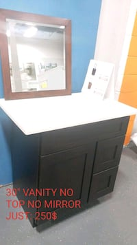white wooden cabinet with mirror Alexandria, 22312