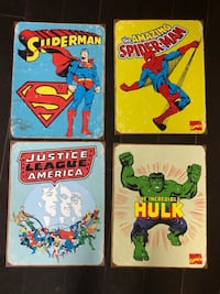 "DC Comics and Marvel Comics Wall Hanging (4 of them measuring 12""x16"") Aldie, 20105"