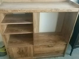 Wooden tv stand cash only or best offer