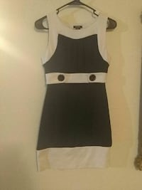 white and black sleeveless dress Moorhead, 56560