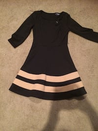 black and white long-sleeved dress Lafayette