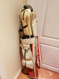 brown and white golf bag Maple Ridge, V2W 1M4