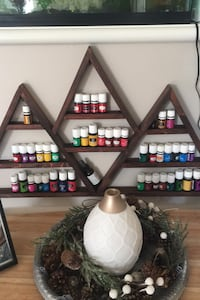 Essential oil shelf plus dessert most young living diffuser