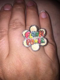Vintage 90s flower power ring adjustable Union Gap, 98903