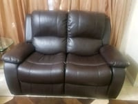 Leather sofa and love chair