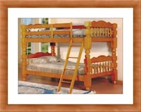 Wooden Twin bunkbed frame 2 mattress free delivery Ashburn, 20147