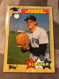 1987 TOPPS #614 ROGER CLEMENS ALL-STAR Fresno, 93727