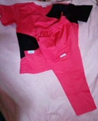 Pink scrub uniform
