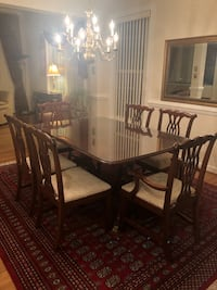 Cherry wood dining room table and chairs Fairfax, 22033