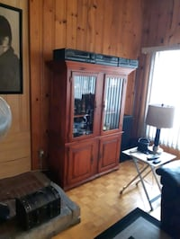 brown wooden cabinet with mirror Montréal, H8R 3E6