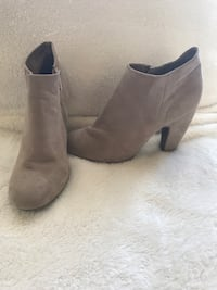 Pair of gray suede boots Rome, 30165