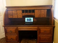 Beautifully crafted custom made rolltop desk Henderson