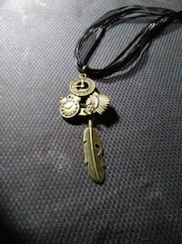 Necklace with clock parts