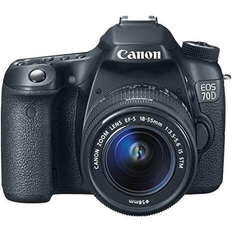 Canon 70D with two lenses, bag, two batteries and charger