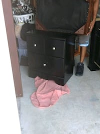 black wooden 2-drawer chest Harris County